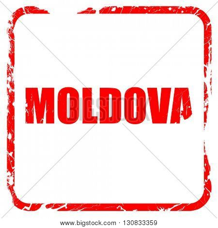 Greetings from moldova, red rubber stamp with grunge edges