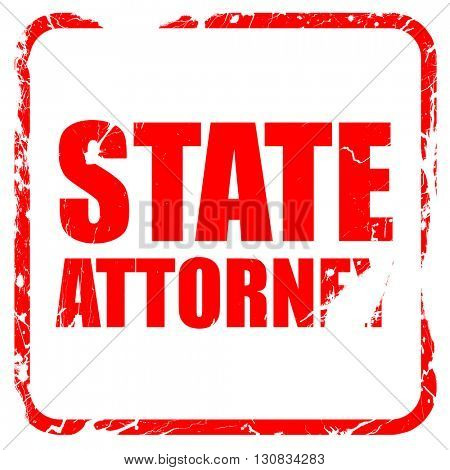state attorney, red rubber stamp with grunge edges