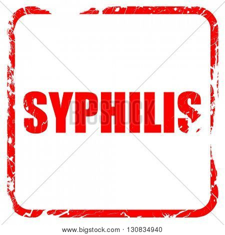 syphilis, red rubber stamp with grunge edges