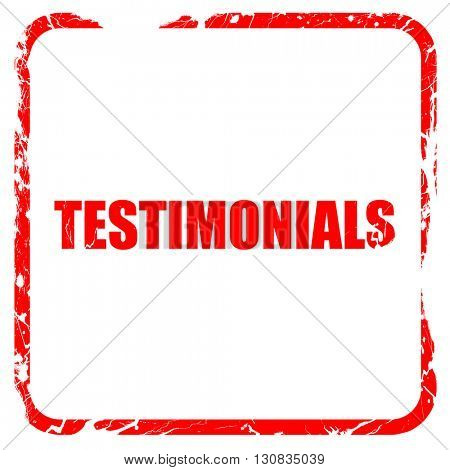 testimonials, red rubber stamp with grunge edges