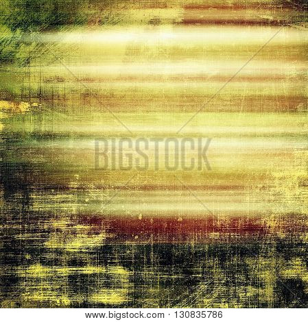 Grunge design composition over ancient vintage texture. Creative background with different color patterns: yellow (beige); brown; green; black; pink