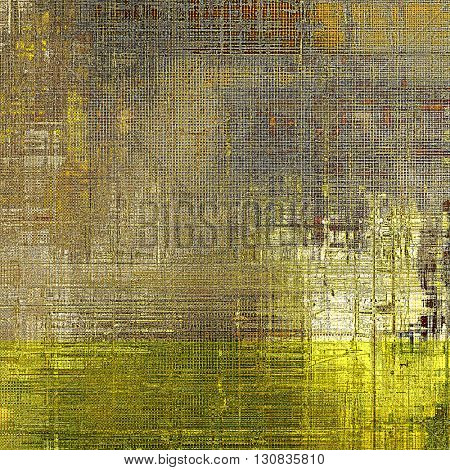 Vintage background in scrap-booking style, faded grunge texture with different color patterns: yellow (beige); brown; gray; black