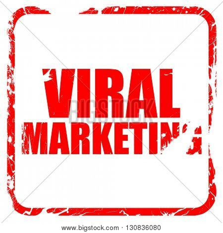 viral marketing, red rubber stamp with grunge edges