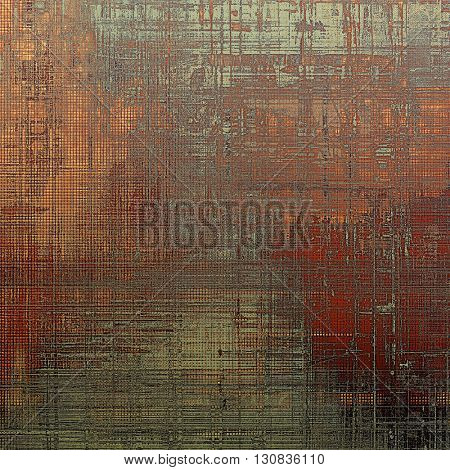 Old grunge vintage background or shabby texture with different color patterns: yellow (beige); brown; red (orange); gray; black