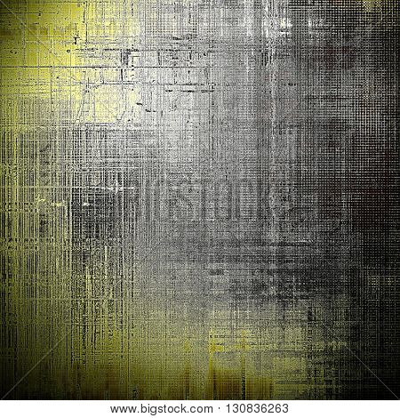 Vintage template or background with grungy texture, antique decor and different color patterns: yellow (beige); brown; gray; black