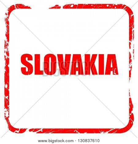 slovakia, red rubber stamp with grunge edges
