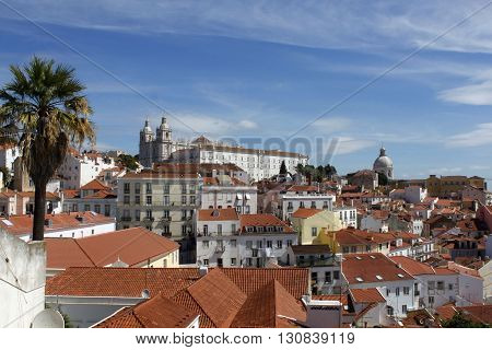 Panorama Of Lisbon, Santa Engracia's Church And Sao Vicente