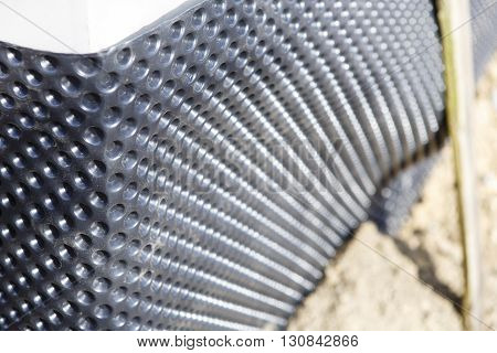 studded film on the wall - new building or home construction