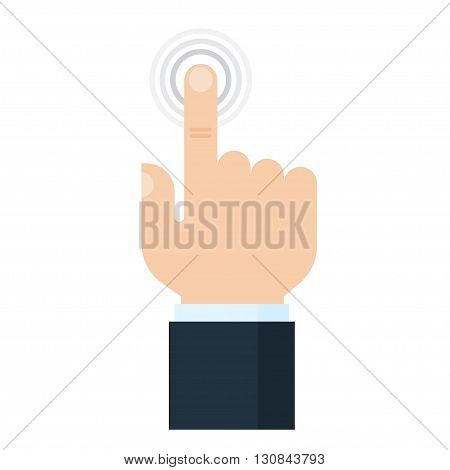 Touch screen finger icon. Finger to touch screen. Human hand to touch of surface display. Design element.