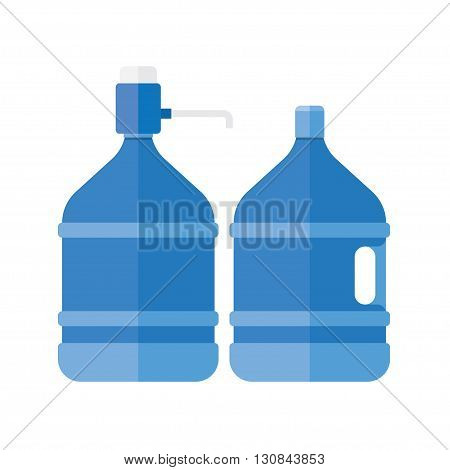 Water cooler. Refreshment and bottle office plastic and liquid. Vector illustration