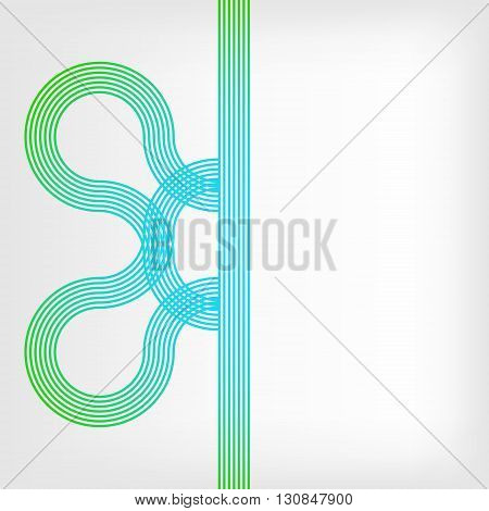 abstract vector background with stripes pattern - green and blue