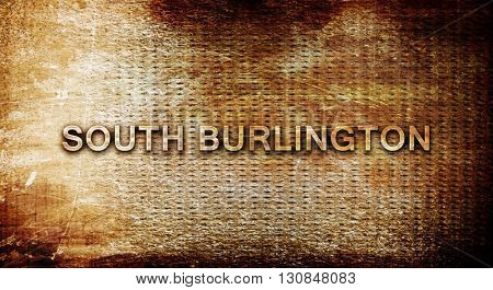 south burlington, 3D rendering, text on a metal background