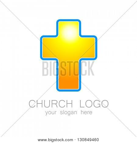 Church logo -  design template. Template logo for churches and Christian or organizations. Church name, church icon,  christian logo,  religion logo.