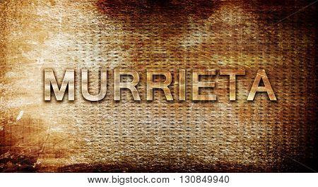 murrieta, 3D rendering, text on a metal background