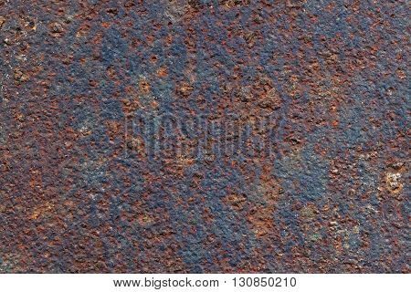 Texture of metal coated with rust. Background
