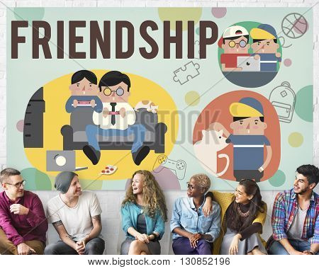Friendship Friends Relationship Hobby Concept