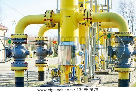 industrial gas distribution station