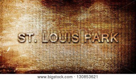 Poster: st louis park 3D rendering