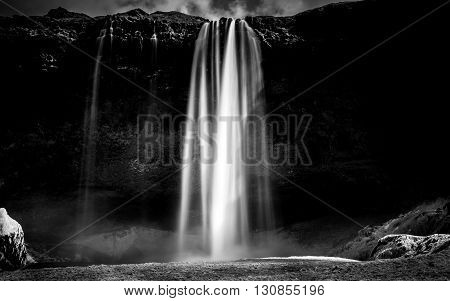 Photo of a Breathtaking Waterfall Selfoss in Iceland