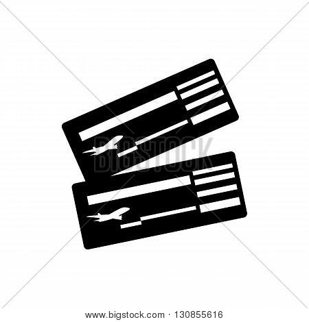 Air ticket icon in simple style isolated on white background. Travel and flights symbol