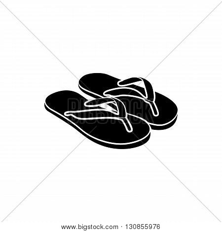 Slipper icon in simple style isolated on white background. Travel and leisure symbol