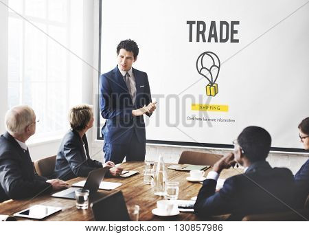 Trade Freight Industry Industrial Import Export Concept