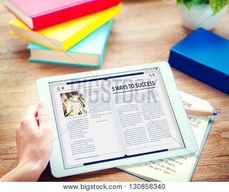 Website Homepage Online Internet Article Concept