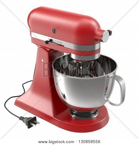 Stand Mixer Isolated on White Background 3D Illustration