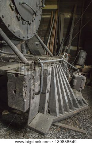 Wooden Grate On Vintage Train