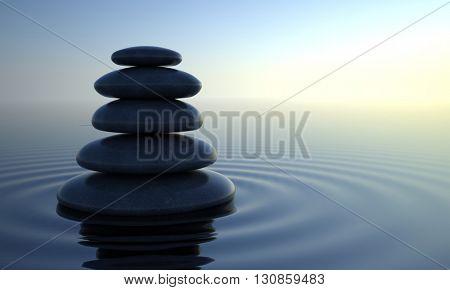 Balance stone. 3d render