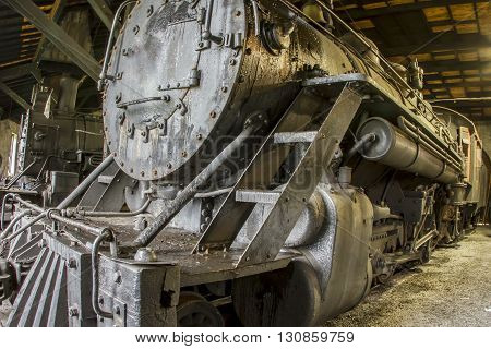 Roundhouse With Locomotives