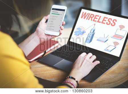 Wireless Connection Internet Modem Network Concept
