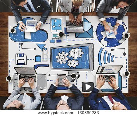 Data Storage Cloud Computing Technology Concept