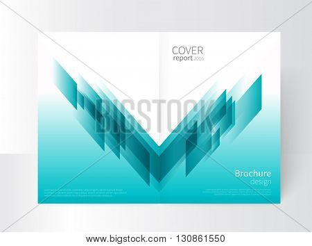 Cover design. Brochure, annual report cover template. modern Geometric Abstract background. Blue diagonal lines. vector-stock illustration EPS 10