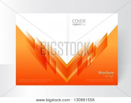 Cover design. Brochure, annual report cover template. modern Geometric Abstract background. orange, yellow diagonal lines. vector-stock illustration EPS 10