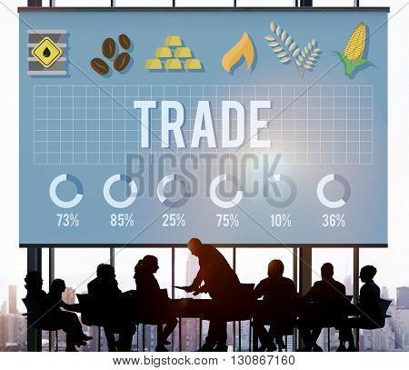Trade Business Commerce Deal Exchange Export Concept