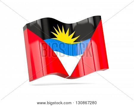 Wave Icon With Flag Of Antigua And Barbuda
