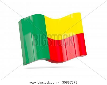 Wave Icon With Flag Of Benin