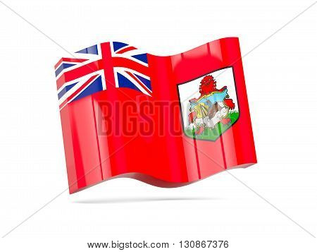 Wave Icon With Flag Of Bermuda