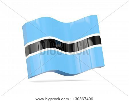 Wave Icon With Flag Of Botswana