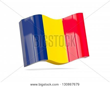 Wave Icon With Flag Of Chad