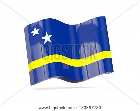 Wave Icon With Flag Of Curacao