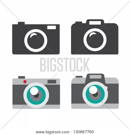 Camera icons set vector illustration. Camera black logo. Camera icons sign eps10