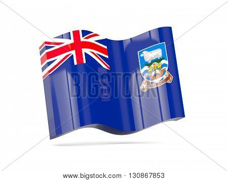 Wave Icon With Flag Of Falkland Islands