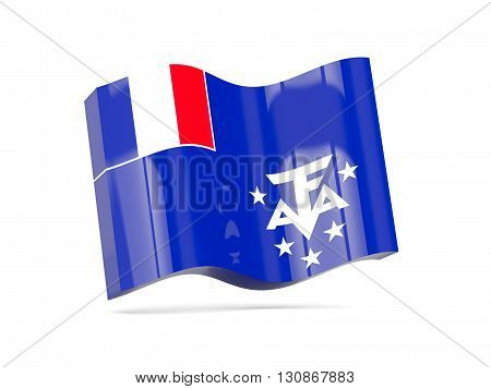 Wave Icon With Flag Of French Southern Territories