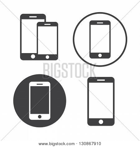 Smartphone icons set vector illustration. Smartphone black logo. Smartphone icons sign eps10