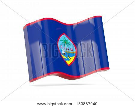 Wave Icon With Flag Of Guam
