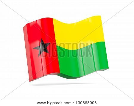 Wave Icon With Flag Of Guinea Bissau