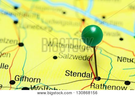 Stendal pinned on a map of Germany