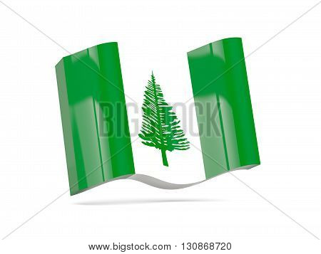 Wave Icon With Flag Of Norfolk Island